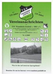 Ganzseitiger Faxausdruck - TSV Wandsbek-Jenfeld, Supersenioren