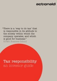 Tax responsibility an investor guide - ActionAid