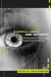 Questioning Surveillance and Security