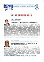 14 - 17 GENNAIO 2013 - Erminia Mazzoni