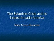 The Subprime Crisis and its Impact in Latin America - IsIVI