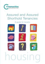 Assured and Assured Shorthold Tenancies: A guide for tenants