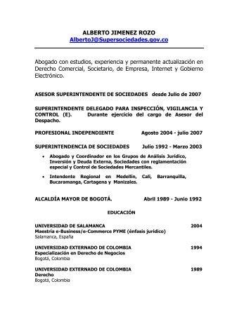 ALBERTO JIMENEZ ROZO AlbertoJ@Supersociedades.gov.co ...
