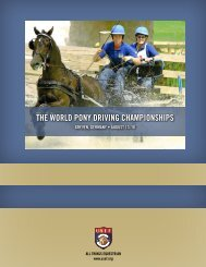 THE WoRLd poNy dRIvING CHAmpIoNSHIpS - United States ...