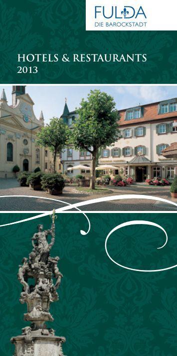 HoTels & resTauranTs 2013 - Tourismus Fulda