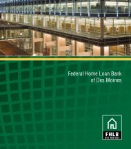 Corporate Brochure - Federal Home Loan Bank of Des Moines