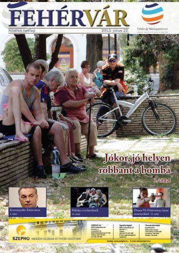 Jókor, jó helyen robbant a bomba 2. oldal - Székesfehérvár