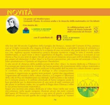 NOVITà - Museo di Storia Naturale - Università degli Studi di Firenze