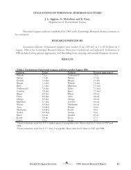 Evaluation of Perennial Ryegrass Cultivars
