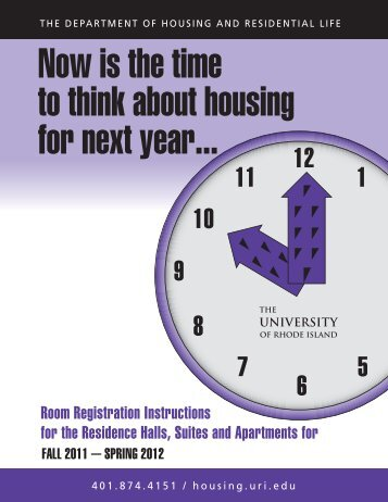 Now is the time to think about housing for next year... - Housing and ...