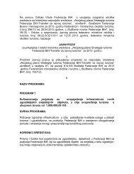 Javni poziv - Federalno ministarstvo okoliša i turizma