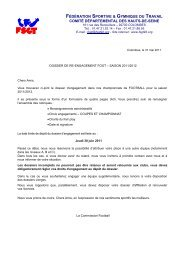 texte courrier accompagnement - FSGT 92