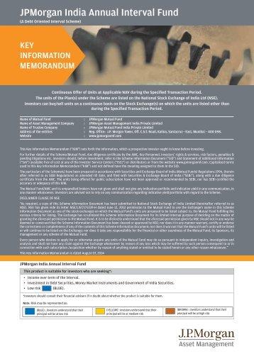 JPMorgan India Annual Interval Fund - JP Morgan Asset Management