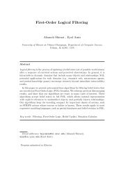 First-Order Logical Filtering - CiteSeerX