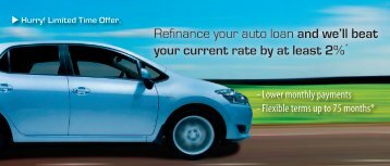 Refinance your auto loan and we'll beat your current rate by at least ...