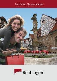 Reutlinger Imagebroschüre - Tourismus Reutlingen