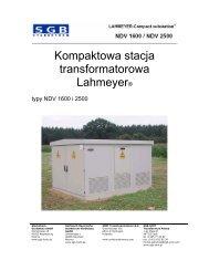 Kompaktowa stacja transformatorowa typy NDV 1600 i 2500 - SMIT ...