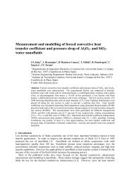 Measurement and modelling of forced convective heat transfer ...