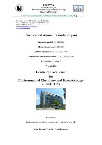 Annual Report 2004 - Centrum pro výzkum toxických látek v prostředí