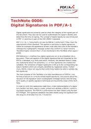 TechNote 0006: Digital Signatures in PDF/A-1