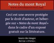 yo3^. o^ W - Notes du mont Royal