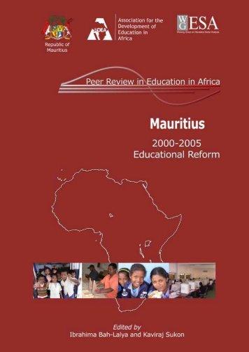 Mauritius: 2000-2005 Educational reform. - ADEA
