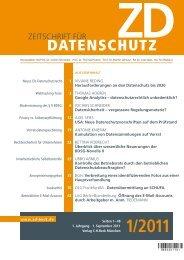 DATENSCHUTZ - Verlag C. H. Beck ohg
