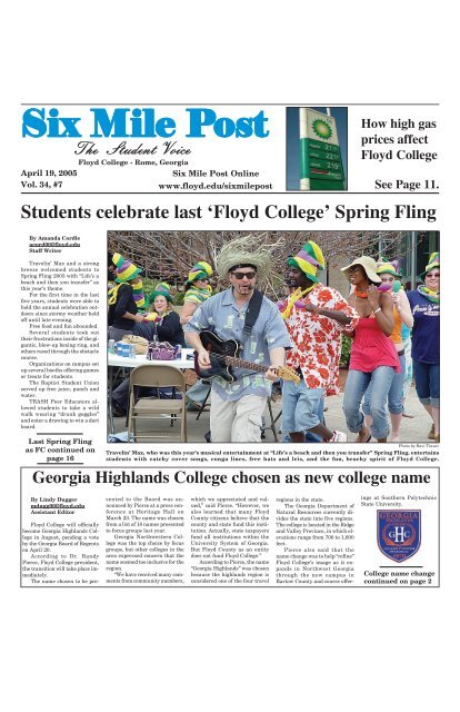 Front Page April Experiment  05 - Georgia Highlands College