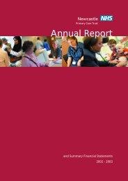 Annual report 02-03 - Newcastle City Council