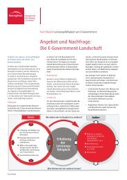 Die E-Government-Landschaft - BearingPoint ToolBox