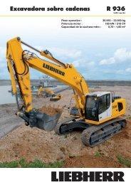 R 936 Excavadora sobre cadenas
