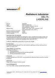 Radiateurs tubulaires DELTA LASERLINE