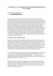 la politica y la historia de los partidos politicos en el peru - Liceus