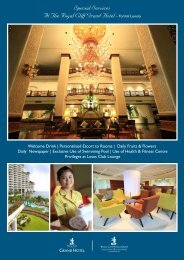 Special Services At The Royal Cliff Grand Hotel– Formal Luxury