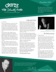 2010 Newsletter - The James Fund for Neuroblastoma Research