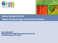 Green Growth & the Water-Food-Energy-Environment Nexus Helen ...