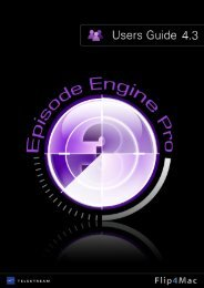 Episode Engine Pro - Flip4Mac