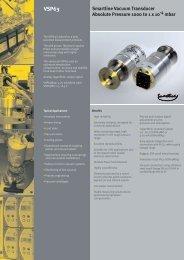 Sm linert Smartline Vacuum Transducer Absolute ... - FineMech