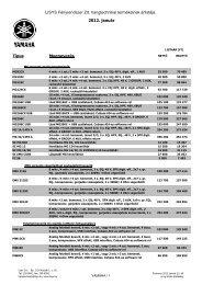 Hang árlista 2012 január - Lisys Fényrendszer Zrt.