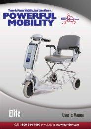 Elite Portable Scooter User Manual - Electrik Motion