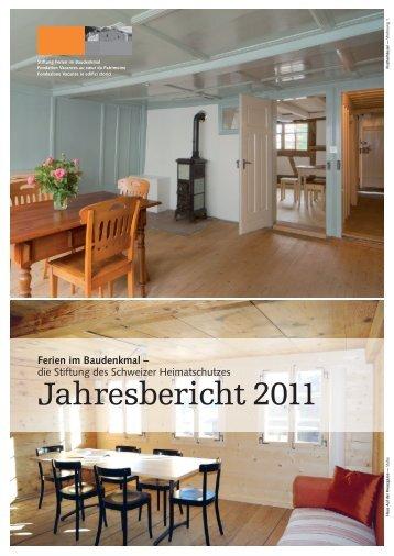 Jahresbericht 2011 (PDF) - Ferien im Baudenkmal