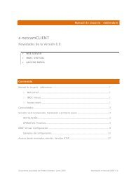 Novedades e-netcamCLIENT 6 - IProNet Sistemas