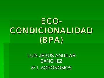 ecocondicionalidad - Universidad de Castilla-La Mancha