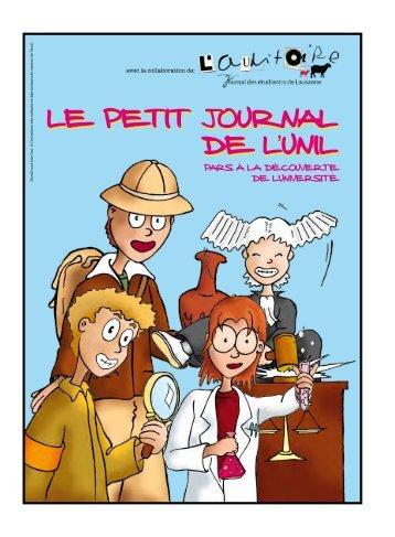 Le Petit journaL de L'uniL Le Petit journaL de L'uniL - Université de ...