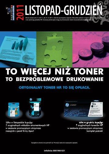 Pobierz Gazetkę promocyjną Partner XXI listopad/grudzień 2011 r.