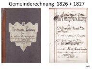 Gemeinderechnung 1825 + 1827 - Gemeinde Signau