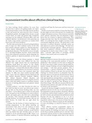 Viewpoint Inconvenient truths about effective clinical teaching