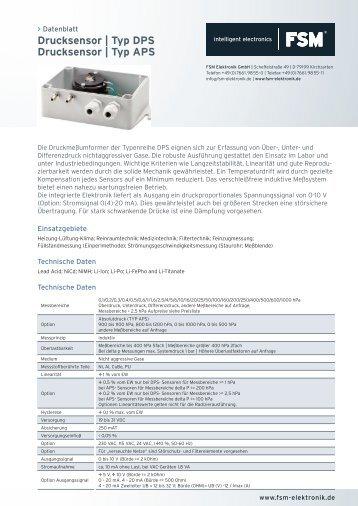 Datenblatt Drucksensor.indd - FSM AG