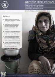 WFP Syria Crisis Response Situation Update, 26 Jan - 4 Feb 2014