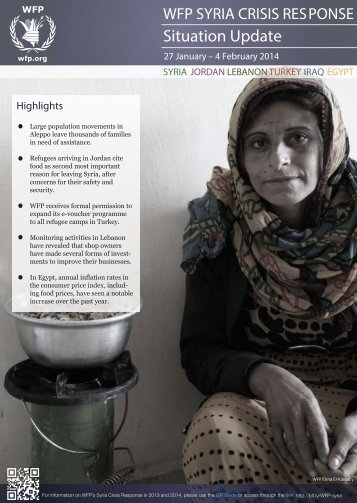 WFP Syria Crisis Response Situation Update, 26 Jan - 4 Feb 2014